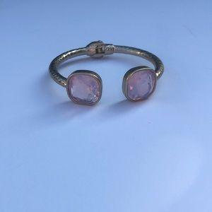 Jewelry - Gold bracelet with pink gemstones